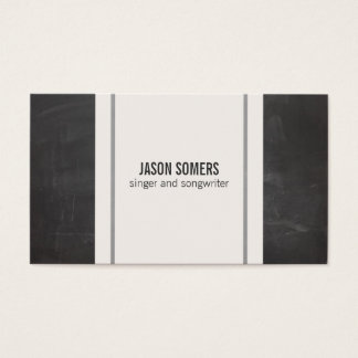 Musician Simple Chalkboard Look Business Card