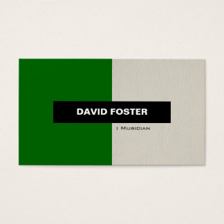 Musician - Simple Elegant Stylish Business Card