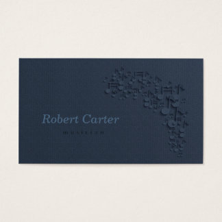 Musician Singer Orchestra Note Music Business Card