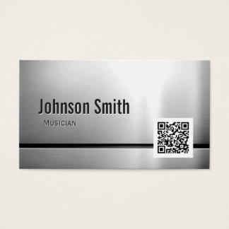 Musician - Stainless Steel QR Code Business Card
