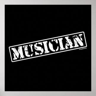 Musician Stamp Print