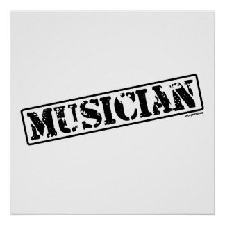 Musician Stamp Poster