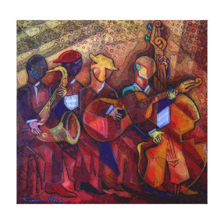 Musicians AT the fest. Canvas Print