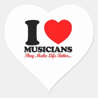 MUSICIANS designs Heart Sticker
