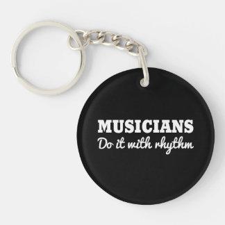Musicians Do it with Rhythm Keychain