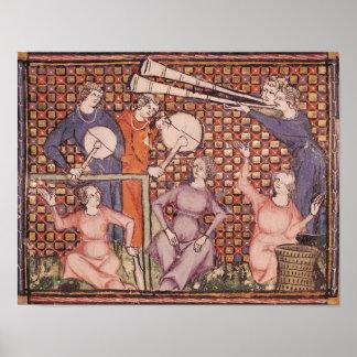 Musicians from Ovide Moralise Print