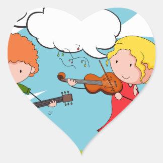 Musicians Heart Sticker