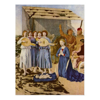 Musicians Worshipping Christ by Geburt Christi Postcard