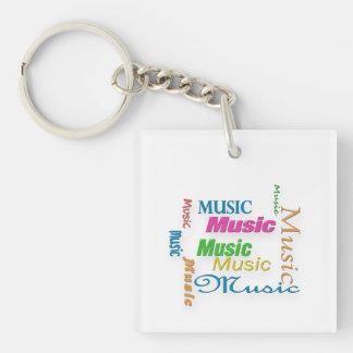 MusicWord Cloud 3 Keychain