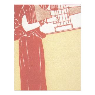 Musik (lithograph) by Gustav Klimt Letterhead