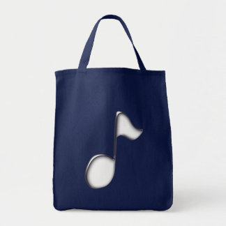 Musiknote note music tote bag