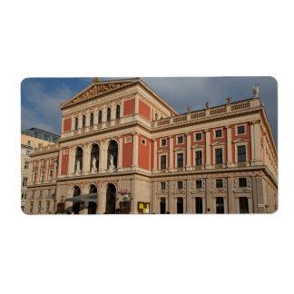 Musikverein, Wien Österreich Shipping Label