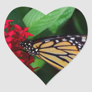 Musing Monarch Heart Sticker