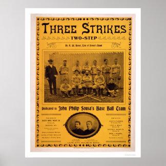 Musique 1902 d équipe de baseball de Sousa Poster