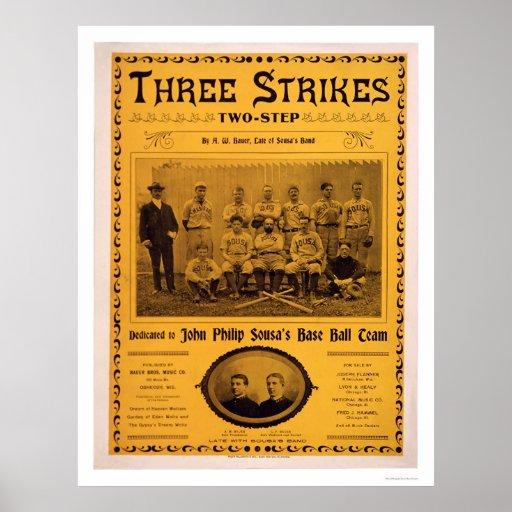 Musique 1902 d'équipe de baseball de Sousa Poster