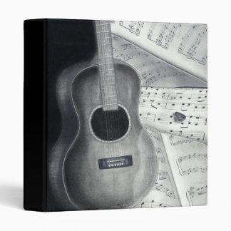 """Musique 1"""" de guitare et de feuille classeur"""