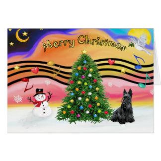 Musique 2 de Noël - écossais Terrier Carte