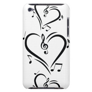Musique d'amour de clef d'illustration coques barely there iPod