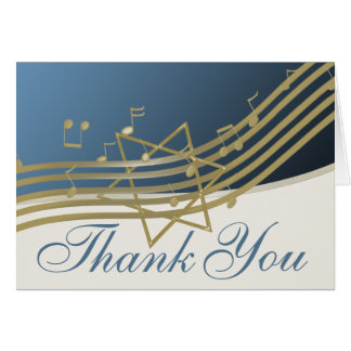 Musique dans la note de Merci d'air Carte De Correspondance
