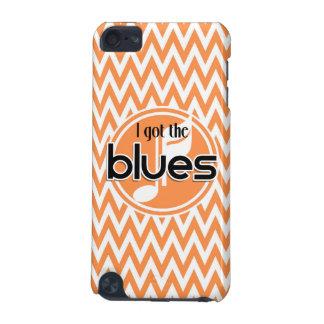 Musique de bleus Chevron orange et blanc
