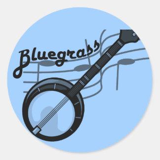 Musique de Bluegrass avec le banjo Autocollants Ronds