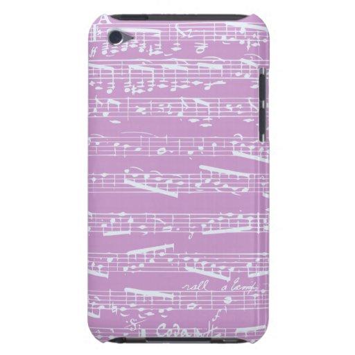 Musique de feuille rose étuis iPod touch