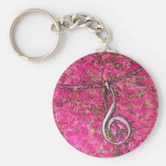 Musique et paix porte-clé rond