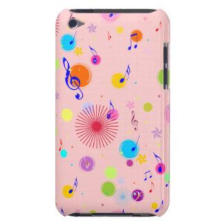 Musique (fleurs et points 1) coques barely there iPod