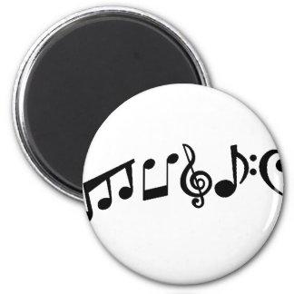Musique Magnet Rond 8 Cm