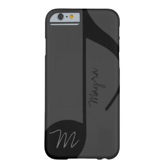 musique-note noire personnalisée coque barely there iPhone 6