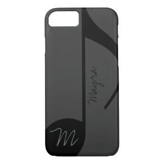 musique-note noire personnalisée coque iPhone 7