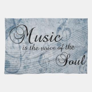 Musique si la voix de l'âme serviette éponge