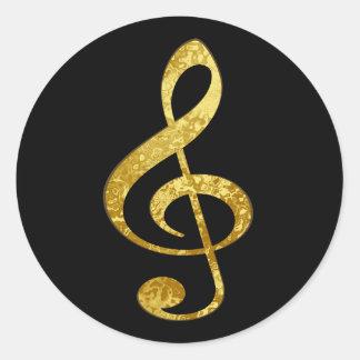 musique sticker rond