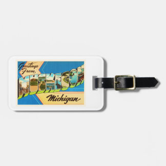Muskegon Michigan MI Old Vintage Travel Souvenir Luggage Tag
