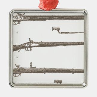 Muskets Old Rifles Vintage Antique Guns Metal Ornament