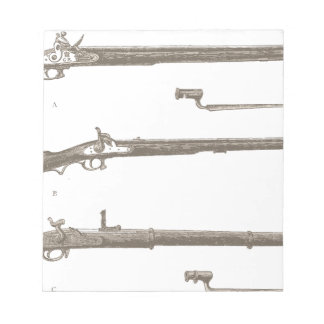 Muskets Old Rifles Vintage Antique Guns Notepad