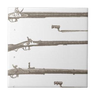 Muskets Old Rifles Vintage Antique Guns Tile