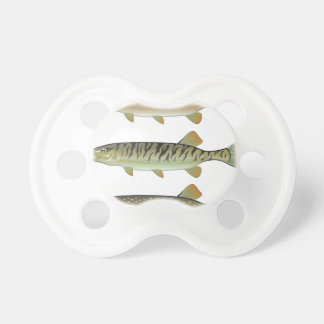 Musky Tiger musky and Northern Pike vector Pacifier