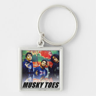 Musky Toes - the Band Silver-Colored Square Keychain