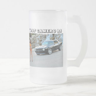 Musle Car Edition Frosted Glass Beer Mug