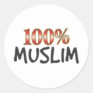 Muslim 100 Percent Round Stickers