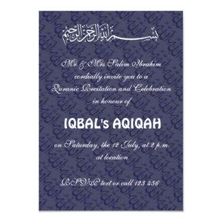 Muslim baby boy Aqiqah Card