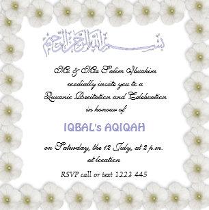 Aqiqah Celebration Invitations Announcements Zazzle Ca