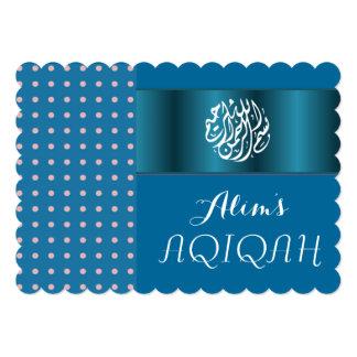Muslim baby boy Blue Aqiqah Islamic Card