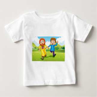 Muslim boy and girl holding hands baby T-Shirt