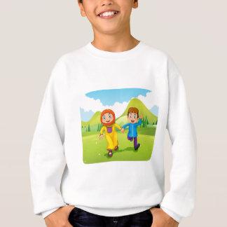 Muslim boy and girl holding hands sweatshirt