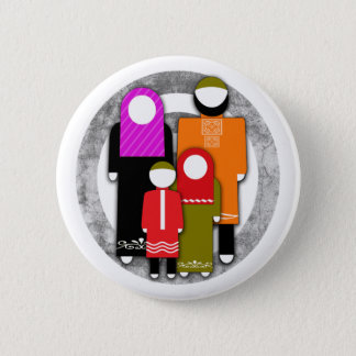 Muslim Family 2 Inch Round Button