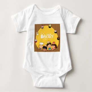 Muslim girl with happy face baby bodysuit