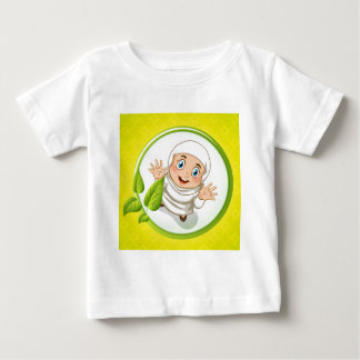 Muslim girl with happy face baby T-Shirt