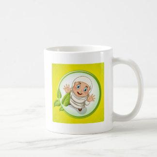 Muslim girl with happy face coffee mug